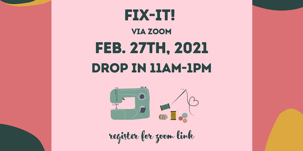 February Fix-It! via Zoom