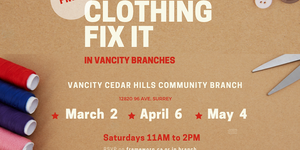 April Fix it | Vancity Surrey