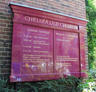 Chelsea Old Church Service Board