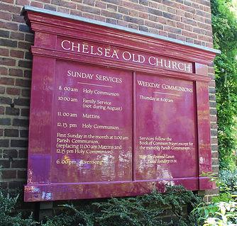 Chelsea Old Church Service Board