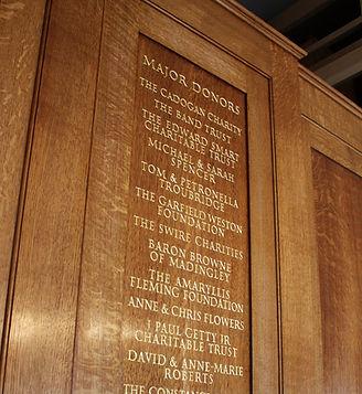 Chelsea Old Church Organ - Donor Panels