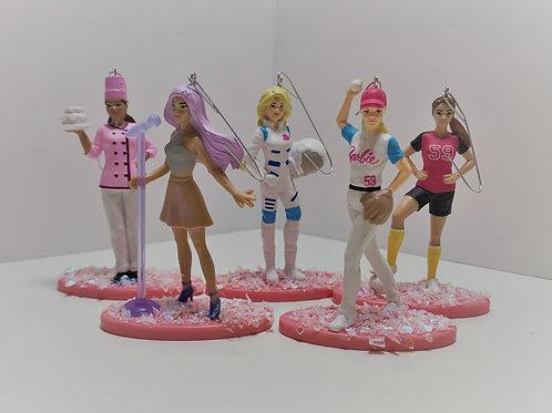 Career Barbies Ornament Set