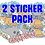 Thumbnail: 2-PACK Stickers (You choose)