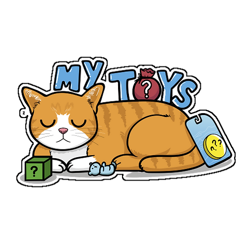 Sam with Toys ( Transparent Die Cut Sticker)