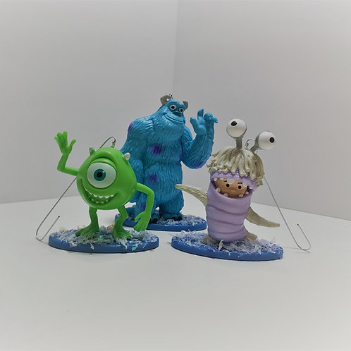 Monsters Inc Ornament Set