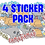 Thumbnail: 4-PACK Stickers (You choose)