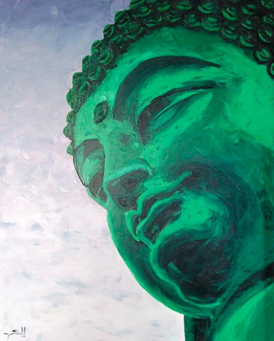 Emerald Buddha 1.5 x 1.2m