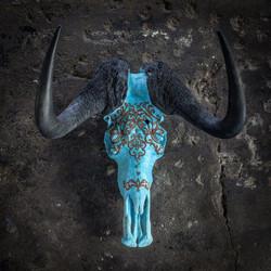 3 Hearts Wildebeest Skull
