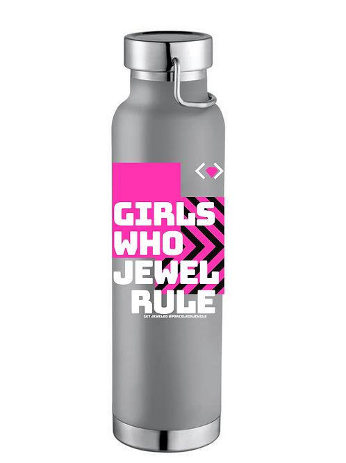 Girls Who Jewel Rule Water Bottle (Gray)