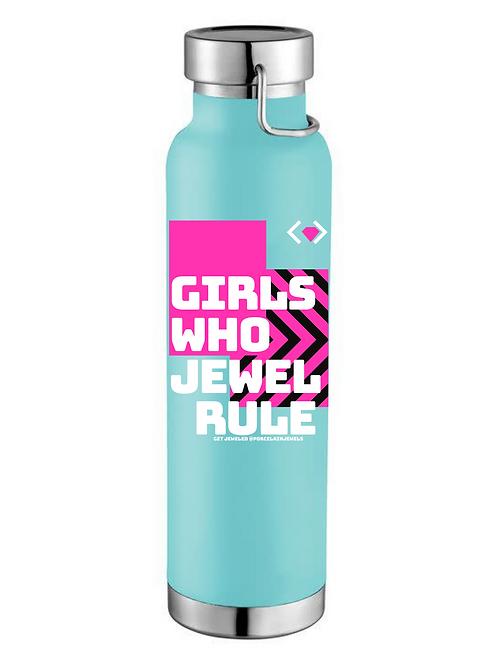 Girls Who Jewel Rule Water Bottle (Teal)