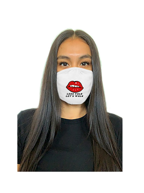 Less Talk Let's Walk Mask (White)