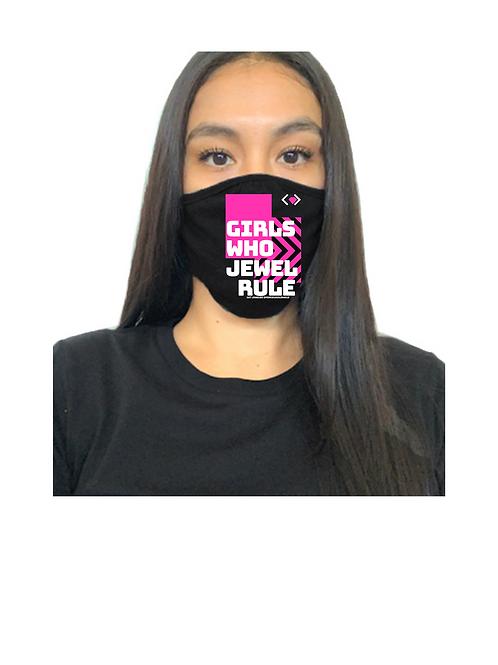Girls Who Jewel Rule Mask (Black)