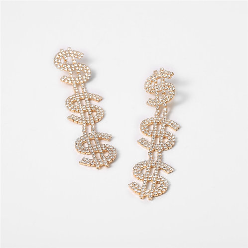 Show Me the Money Earrings (Gold)