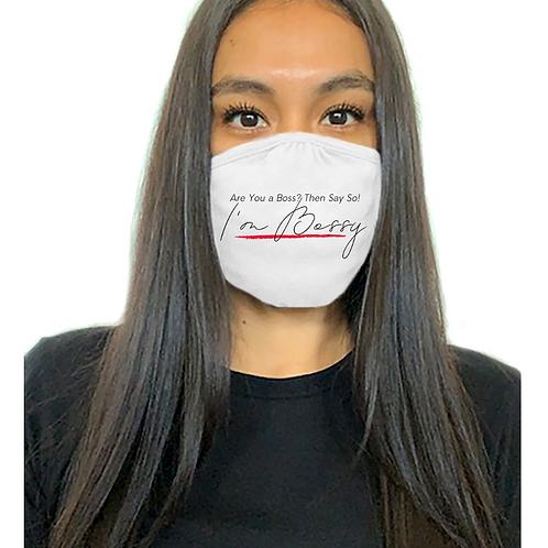 I'm Bossy Mask (White)
