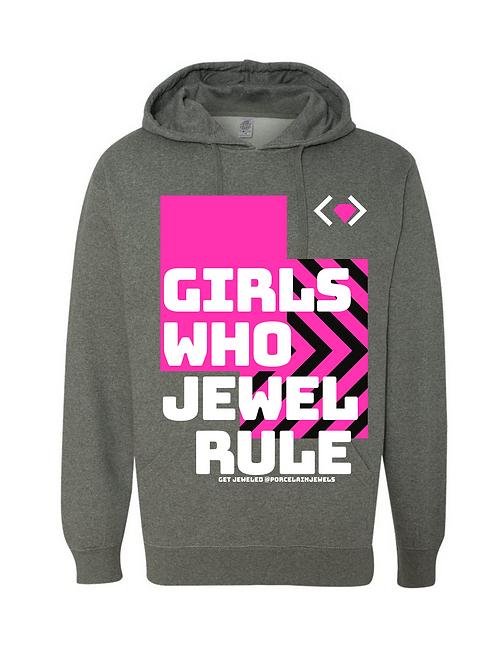 Girls Who Jewel Rule Hoodie (Gray)
