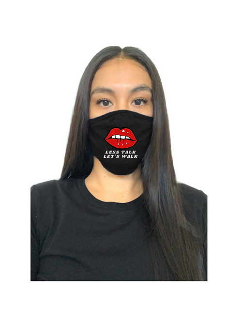 Less Talk Let's Walk Mask (Black)