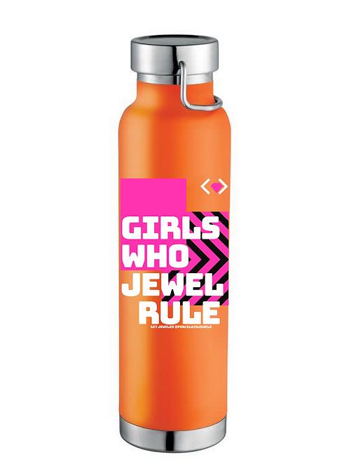 Girls Who Jewel Rule Water Bottle (Orange)