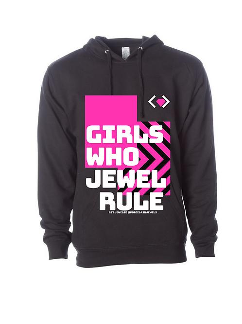Girls Who Jewel Rule Hoodie (Black)