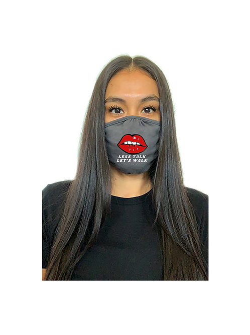 Less Talk Let's Walk Mask (Gray)