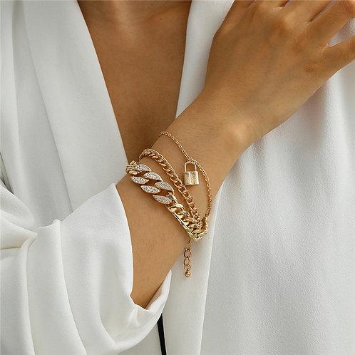 Diamond Linx Bracelet (Gold)