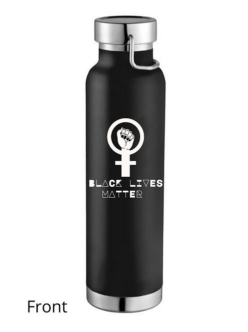 Black Lives Matter Because God Created Them Water Bottle (Black)