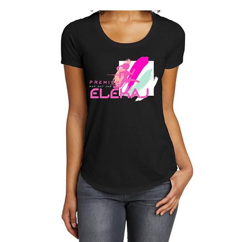 Elekaj Hip Hop Jog Curved T-shirt (Black)