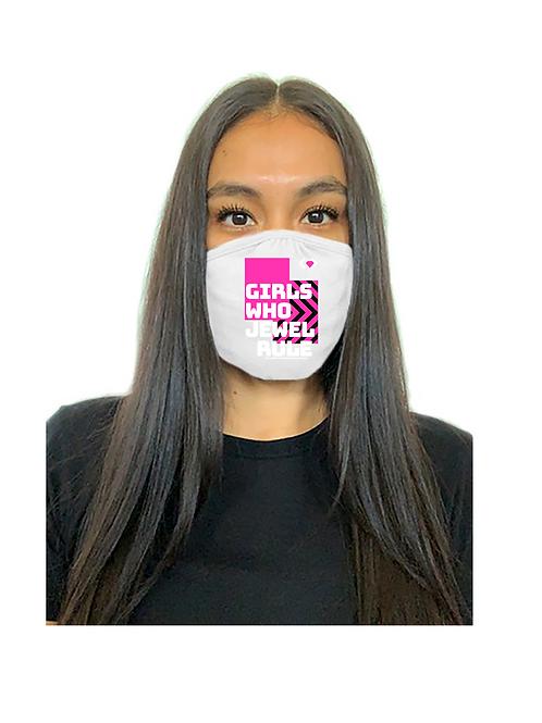 Girls Who Jewel Rule Mask(White)