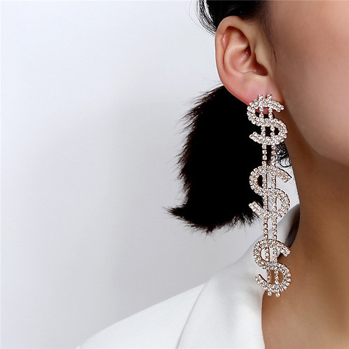 Show Me the Money Earrings (Silver))