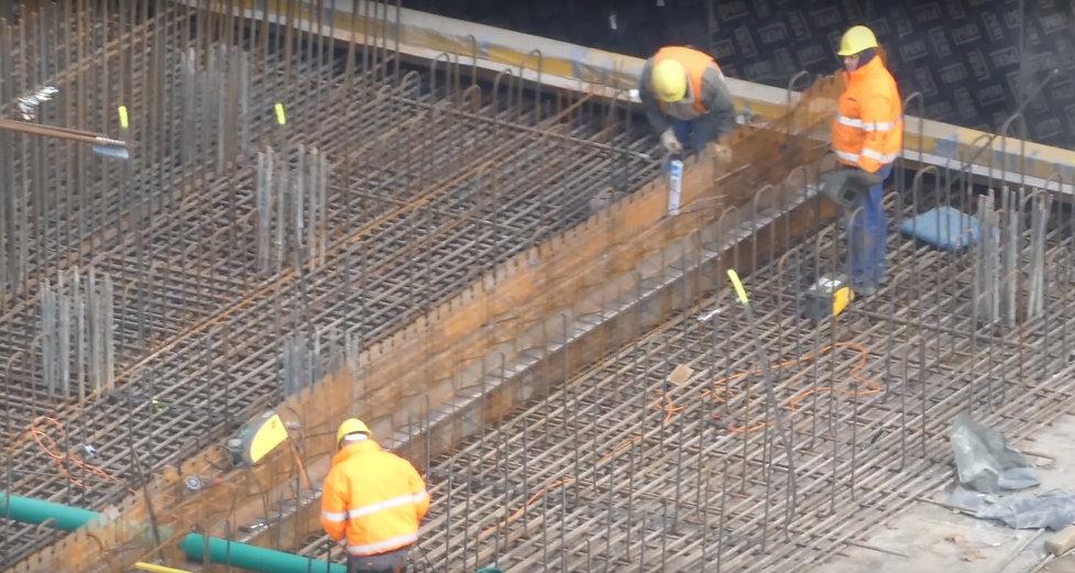 Baustelle Fundament Bewehrungseisen zur