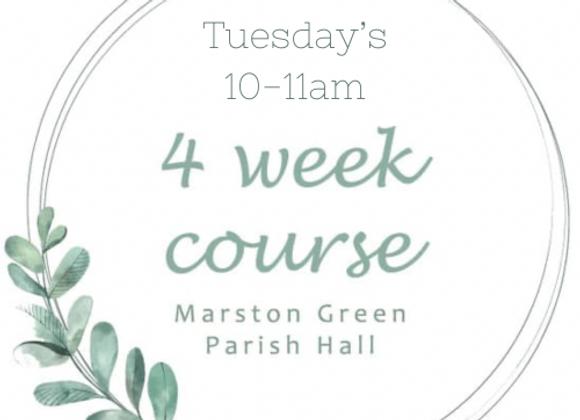Tuesday's 10-11am Marston Green Parish Hall Starting 3rd August