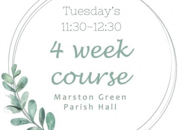 Tuesday's 11:30-12:30 Marston Green Parish Hall Starting 3rd August