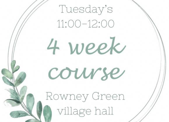 Tuesday's 11:00-12:00 Rowney Green Village Hall Starting 16th November