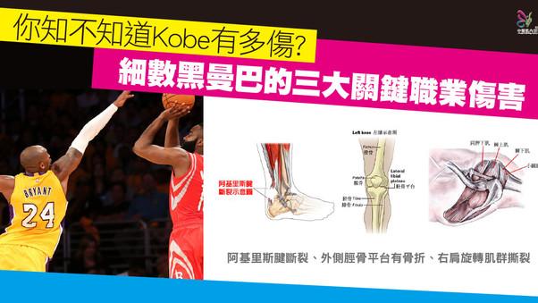 【你知不知道Kobe有多傷?細數黑曼巴的三大關鍵職業傷害】