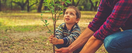 When will it grow Curious little boy hel