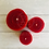 Thumbnail: Hand Rolled Beeswax Candle Set - Red