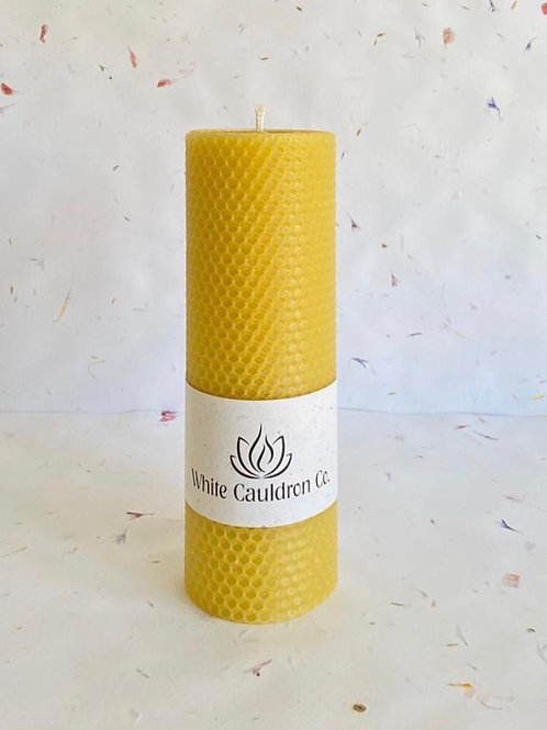 Hand Rolled Beeswax Candle - Yellow