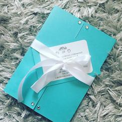 Turquoise wedding invitation breakfast a