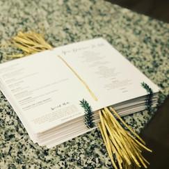 Gold Ribbon Wedding Program.JPG