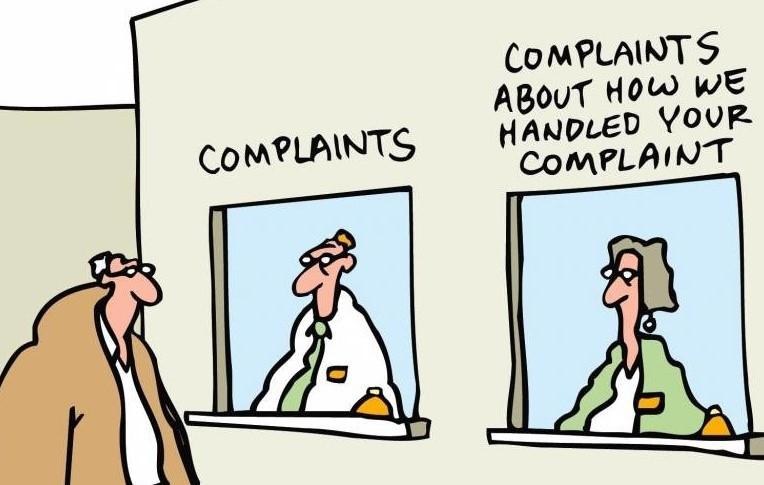 Complaints about complaints @Mike Baldwin