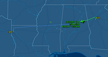 KSHV Flightaware tracking Sedan Service