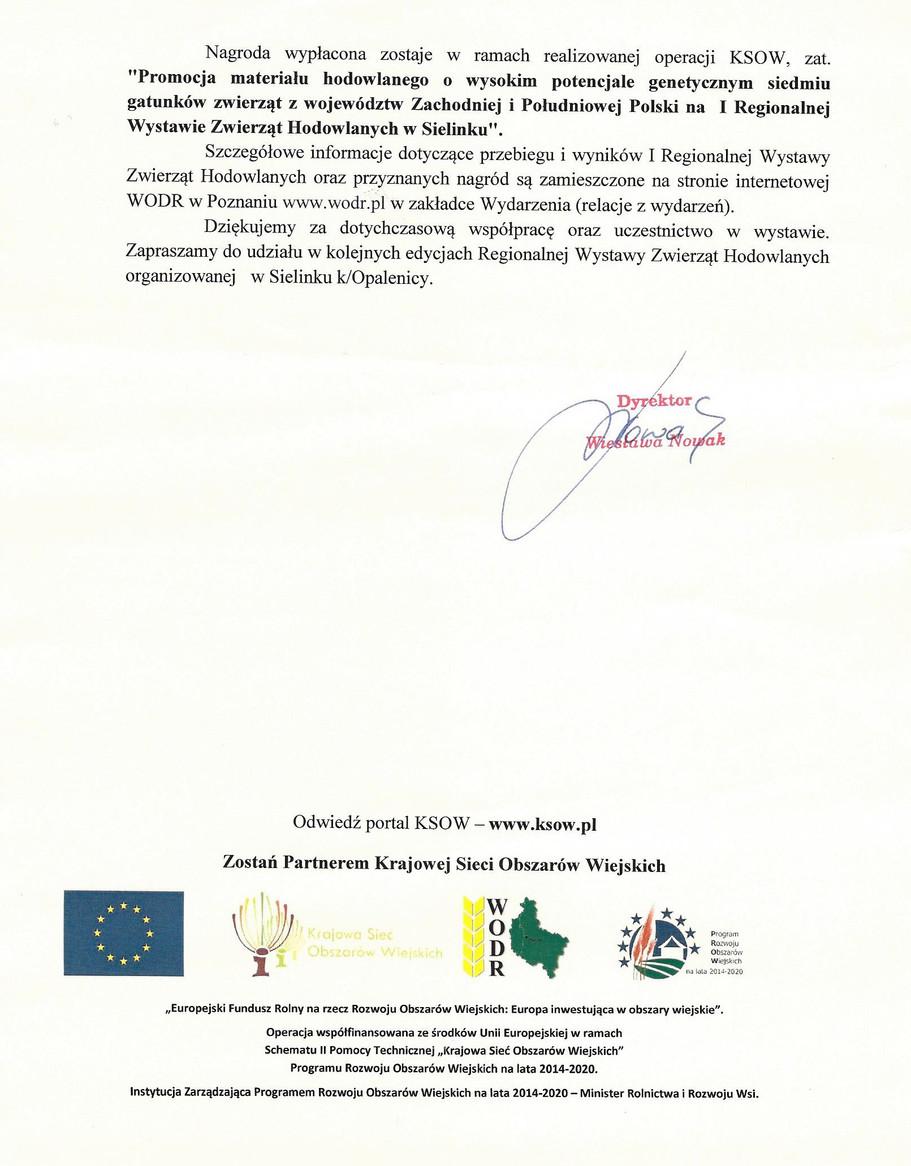 Nagroda specjalna WODR w Poznaniu