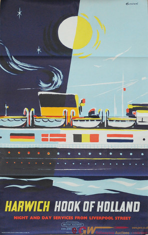 Harwich to the Hook of Holland Ferry Poster