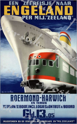 Ferry poster for Holland to Harwich North Sea Crossing