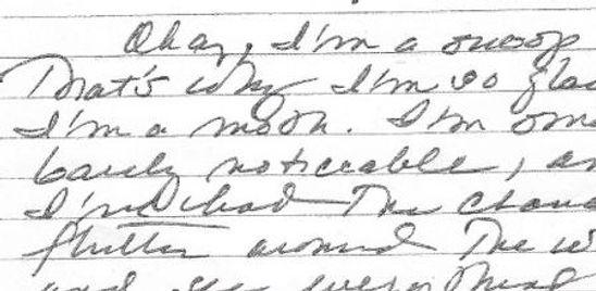 Sample handwriting analysis report by Diane Sawyer