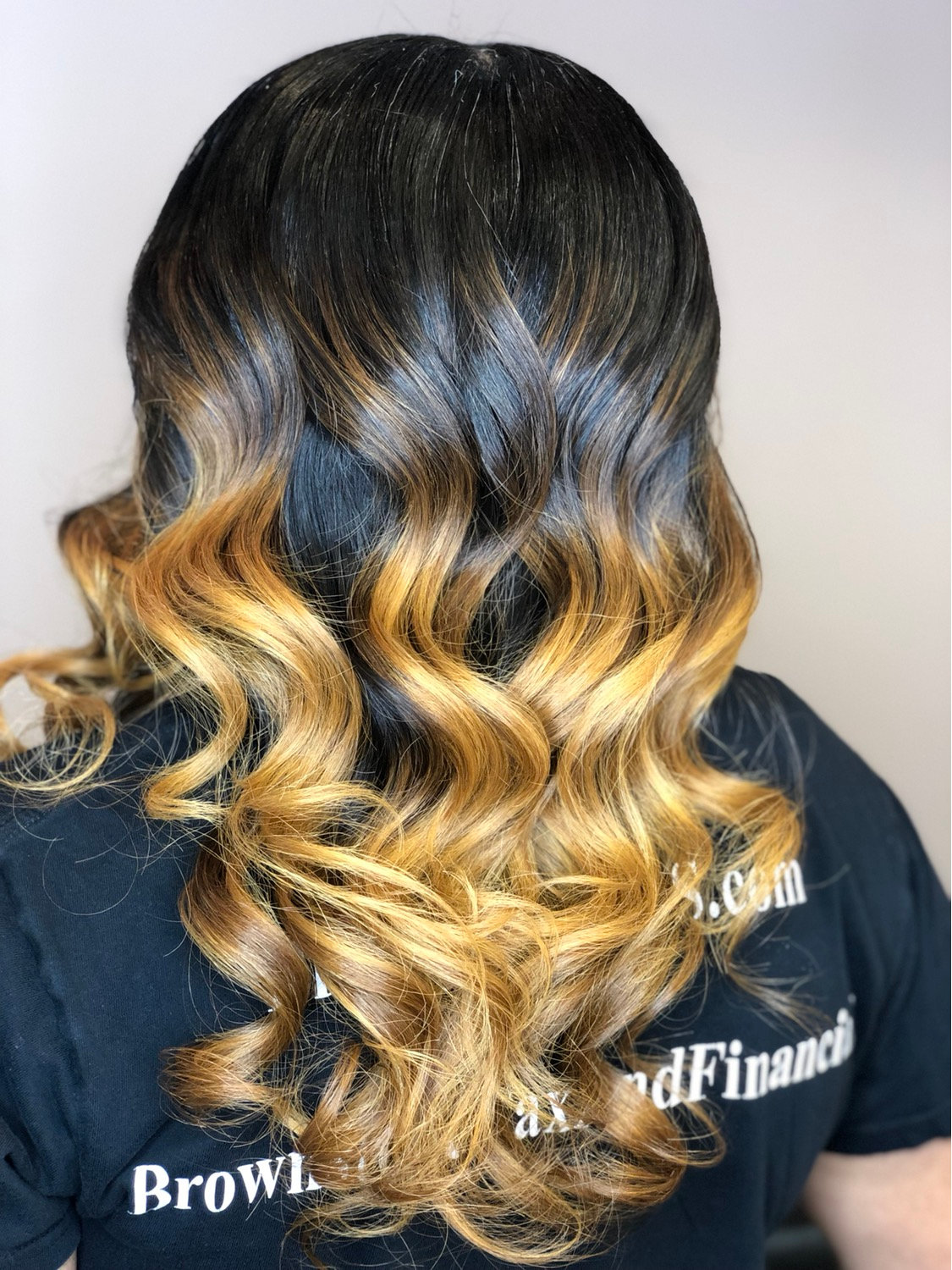 Ombre Color w. Traditional Install