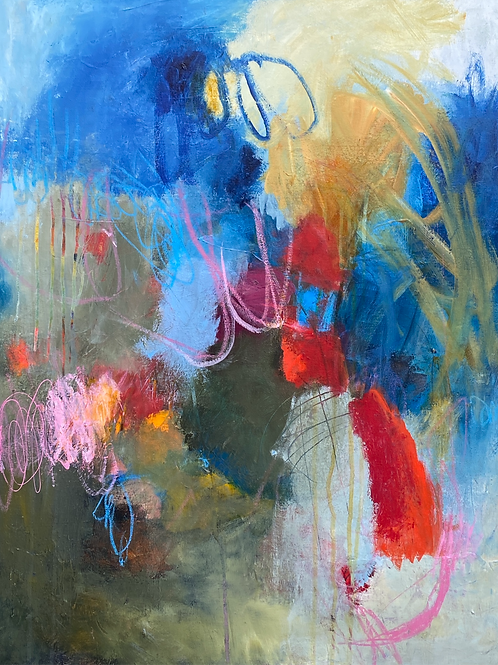 """Finding My Voice 30""""h x 24""""w"""