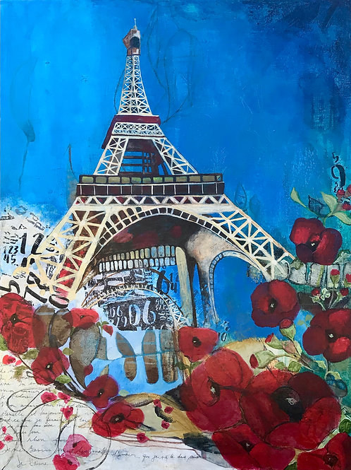 """From Paris With Love 30""""x40"""""""