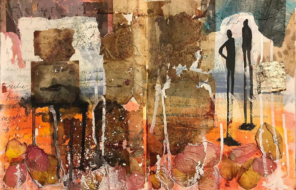 Begin your journey here, express your story visually with art journaling.