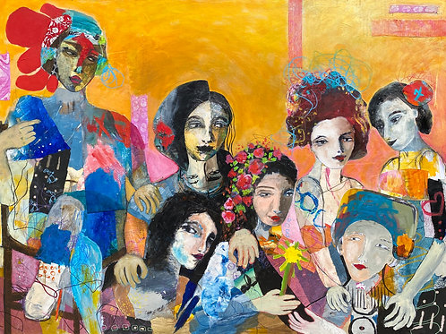 """We're All In This Together 48""""x36"""""""