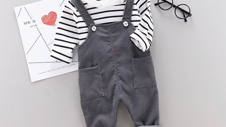 Corduroy overall outfit